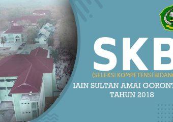 Pengumuman Hasil SKD CPNS IAIN Sultan Amai Tahun 2018